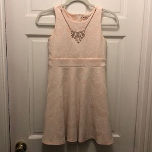 Girls Poppies and Roses Light Pink Dress